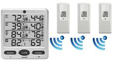 Ambient Weather WS-10 Wireless Indoor/Outdoor 8-Channel Thermo-Hygrometer with Three Remote Sensors Ambient Weather http://www.amazon.com/dp/B00FX8ZGOO/ref=cm_sw_r_pi_dp_Q4LFub10TE4DV