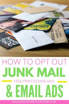 How To Stop Junk Mail And Unwanted Telemarketing Calls Household Cleaning Tips, Cleaning Hacks, Mail Email, Home Organization Hacks, Organizing, Junk Mail, Iphone Hacks, Free Prints, Diy Home Improvement