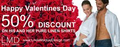 Look great together this Valentine's Day and beyond in one of our limited collection pure linen shirts. Perfect for your coastal or urban lifestyle or if you're planning to travel. These chic shirts will suitably take you to any event or location in style. Enjoy the summer and get the coolest casual experience by wearing them flowing over-top one of our drawstring pants. Add a pair of sandals and take yourself off to an evening of cocktails by the sea as the sun sets on a beautiful balmy…