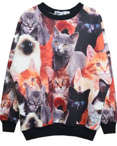 all over kitty sweatshirt