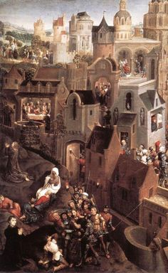 Hans Memling (1430 - 1494) - Scenes from the Passion of Christ (detail). Galleria Sabauda, Turin, Italy.