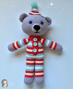 Amigurumi Mini And Mickey Mouse (Disney) Free Pattern – Free Amigurumi Crochet Crochet Gratis, Crochet Amigurumi Free Patterns, Crochet Bear, Crochet Toys, Free Crochet, Crochet Abbreviations, Crochet Designs, Baby Knitting, Teddy Bear
