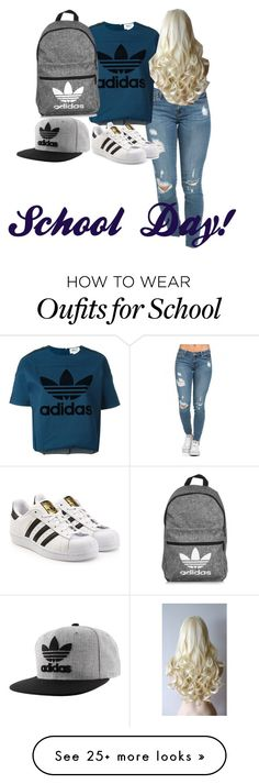 """""""School day! #1"""" by amywahlin on Polyvore featuring adidas Originals and adidas"""