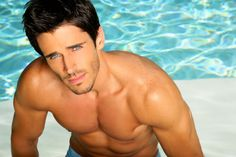 Soap stud Brandon Beemer turned a brief stint in modeling into a multi-year gig on soap operas. Bold And The Beautiful, Gorgeous Men, Beautiful People, Beautiful Player, Brandon Beemer, Cute Eyes, Attractive Men, Famous Faces, To My Future Husband