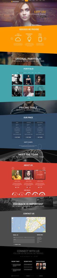 Parasponsive HTML5 / CSS3 by Zizaza - design ocean , via Behance