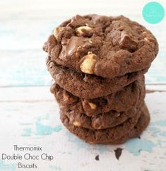 I'm going to start this post with a warning, these Thermomix Double Choc Chip Biscuits are quite possibly the BEST chocolate chip biscuits you will ever try – seriously! Chocolate Chip Biscuits, Triple Chocolate Chip Cookies, Best Chocolate, Fudge, Brownies, Mulberry Recipes, Cookie Recipes, Dessert Recipes, Baking Recipes
