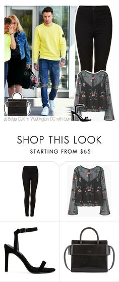 """at Belga Café in Washington DC with Liam"" by hazzdimples ❤ liked on Polyvore featuring Topshop, MANGO, Senso, Givenchy, OneDirection and LiamPayne"