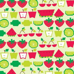 Strawberries and Lime Pattern © Tamara Henderson Pretty Patterns, Shape Patterns, Textures Patterns, Fabric Patterns, Little Doodles, Subway Art, Adult Crafts, Pattern Illustration, Scrapbook Cards
