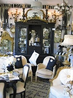 Chanel, Chanel, Chanel......  Vignettes Antiques created the ultimate voyeurs view into CHANELs famous apartment above her Paris salon at 31 Rue de Cambon with a lavishly appointed scene ~ Dinner With Coco