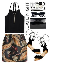 """""""Date night"""" by lisamichele-cdxci ❤ liked on Polyvore featuring Steve Madden, Prada, Bobbi Brown Cosmetics and Dsquared2"""