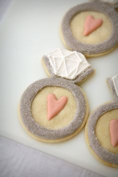 Bridal Shower Cookies @Abby Becker I'd totally make these for you, friend.