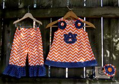 University of Auburn Outfit, A-Line Top/Dress and Ruffle Pants, by Ruby Pearl Boutique, Baby / Girl /Toddler Clothing, Girl /Toddler Auburn by BlueBirdsLane on Etsy https://www.etsy.com/listing/213775919/university-of-auburn-outfit-a-line
