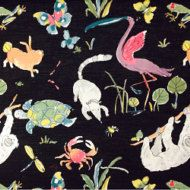 Asian Garden Spring Fabric by ShopMyFabrics on Etsy