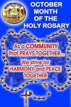 October Is The Month Of The Holy Rosary And October 7 Is The Feast Of Our Lady Of The Rosary