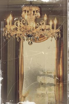 State of the Ballroom As Seen By Jewell - 8x10 Fine Art Photography - Chandelier PhotoGraphy, Home Decor Restoration and Repair