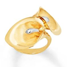 KayOutlet - Lily Ring 14K Two-Tone Gold