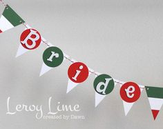 Italy Themed Party | Bride To Be or That's Amore Ban ner - Italian Themed - Bridal Shower ...