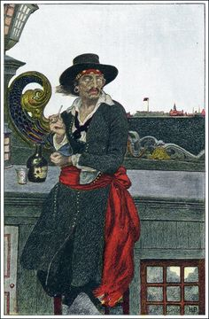 Howard Pyle Illustration: Pirate  http://goldenagecomicbookstories.blogspot.com/search/label/Book%20of%20Pirates