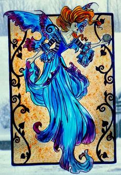 WICOART WINDOW COLOR STICKER STATIC CLING STAINED GLASS ART NOUVEAU FAIRY FEE