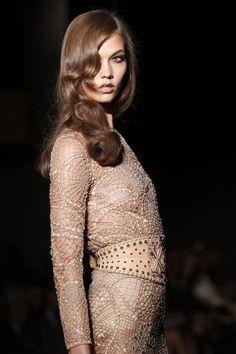 Karlie Kloss at Atelier Versace