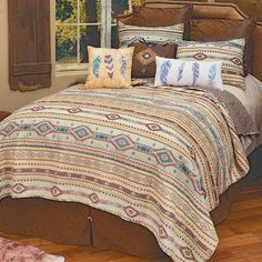 Cotton Bedding, Quilt Bedding, Bedding Sets, Southwest Bedroom, Cowboy Accessories, Quilt Sets Queen, Western Bedding, Western Decor, Forest Decor
