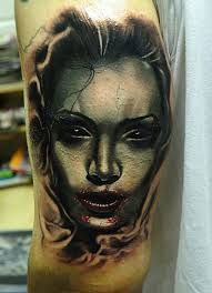 Image result for woman portrait tattoo