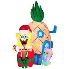 Christmas inflatable spongebob squarepants with gary and pineapple home yard art prop decoration Gemmy http://www.amazon.com/dp/B00NS01KN0/ref=cm_sw_r_pi_dp_Uxjwwb1NPBB73