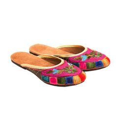 Myra Pink Ethnic Embroidered Flats