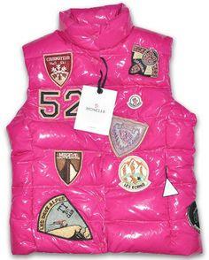 58c7df2eb963 Moncler Outlet UK vests for kids multi logo pink