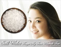 Celeb Secret: Go Hyun Jung uses salt water for acne Diy Beauty Secrets, Skin Secrets, Beauty Tips, Acne Face Wash, Acne Skin, Skin Care Routine Steps, Acne Scar Removal, Home Remedies For Acne