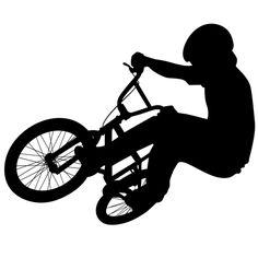 BMX decal Bmx Stickers, Vinyl Wall Stickers, Vinyl Art, Bmx Bicycle, Bmx Bikes, Bicycle Shop, Bicycle Decor, Bicycle Parts, Bike Silhouette