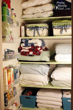 Contact Paper And Wire Shelves Complete Organization With A Little Pretty Household OrganizationCloset OrganizationOrganized Linen ClosetsBathroom