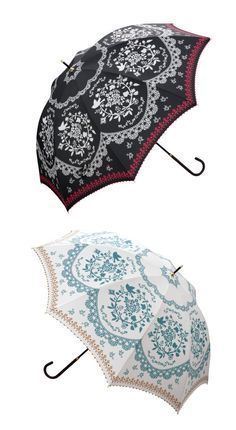 Flower & Bird Umbrella ~ Comes in 3 colors: Off-white, back & pink ~ $24.79