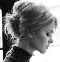 vintage loose messy up do