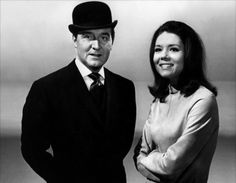 Patrick Macnee and Diana Rigg ✾ in their roles as John Steed and Emma Peel in the television series The Avengers