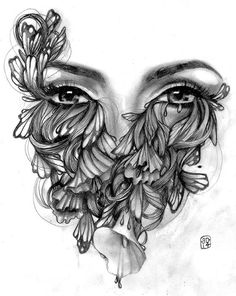 Cocoon by Amy Dowell Nature Woman w/ Butterflies Canvas Art Print – moodswingsonthenet