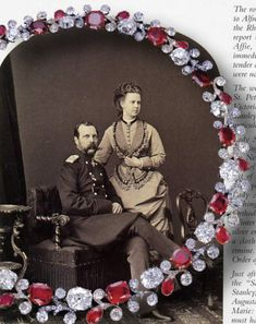 Alexander II of Russia with his daughter Maria and the necklace he gave her Queen Victoria Prince Albert, New Jewellery Design, Princess Alexandra, Imperial Russia, Royal Jewelry, Crown Jewels, Belle Epoque, Beautiful Necklaces, Royalty