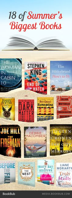 18 of this summer 2016's biggest books, including The Woman in Cabin 10 by Ruth Ware.