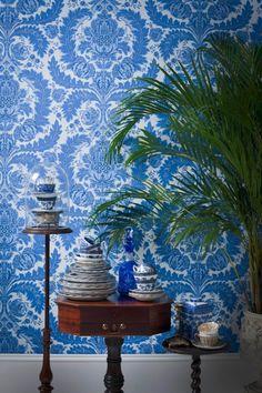Damask Wallpaper, Modern Wallpaper, Print Wallpaper, Home Wallpaper, Designer Wallpaper, Beautiful Wallpaper, Wallpaper Samples, Textured Wallpaper, Wallpaper Ideas