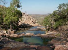 Piscines naturelles à Gunlom Fall. Un coin vraiment agréable pour se baigner!