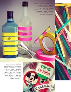 perfect bottle decor :) ... as if you needed the bottle to be cuter to become more drinkable ... lol