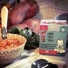 Our 'Baby Beef Ragu' contains Irish minced beef, sweet potatoes, gluten free pasta and a delicious tomato ragu sauce. No added salt or sugar and contains two of your baby's five a day! Gluten Free Pasta, Baby Food Recipes, Acai Bowl, Sweet Potato, Pear, Irish, Salt, Potatoes, Ireland