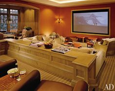 Traditional Media/Game Room by David Easton and Eric J. Smith in Aspen, Colorado