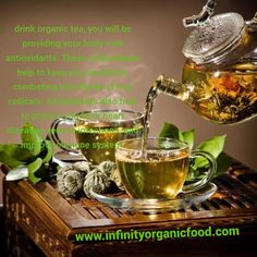 drink organic tea, you will be providing your body with antioxidants. These antioxidants help to keep you healthy by combating the effects of free radicals. Antioxidants also help to protect you from heart diseases, reduce infections, and improve immune system. المنتج متوفر في شركة إنفينيتي للأغذية العضوية #INFINITY ORGANIC FOOD products are available here www.infinityorganicfood .com #love #instagood #photooftheday #organichoney #happy #cute #infinityorganicfood #art #instadaily #friends Organic Green Tea, V60 Coffee, Immune System, Infinity, Coffee Maker, Drinks, Healthy, Happy, Free