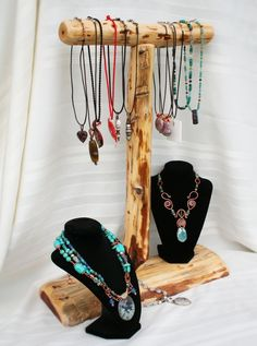Natural Cedar Necklace Display for Craft or Jewelry Shows