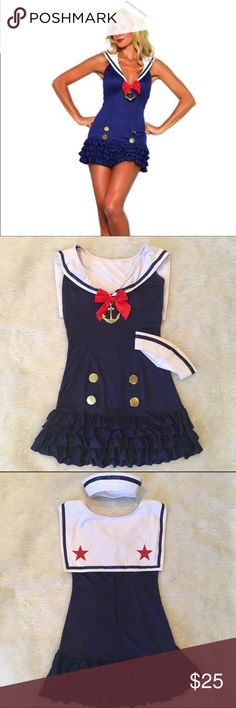 Sweetheart Sailor Costume Halloween is just around the corner!  Are you ready? Leg Avenue 2 piece Sweetheart Sailor Costume. Dress & hat included. Worn once to a Sailor themed house party. Perfect condition. Size S/M. Other