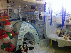 A super Winter Wonderland classroom display photo contribution. Great ideas for your classroom! Nursery Activities, Nursery Themes, Preschool Activities, Work Activities, Eyfs Classroom, Classroom Themes, School Displays, Classroom Displays, Winter Fun