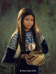 """☆ """"Dominique""""  -Western and Native American Paintings by Karen Noles"""