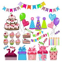 birthday party theme clipart vector to draw Google Search