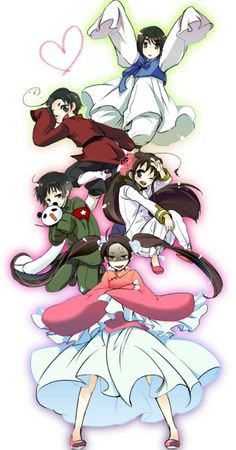 Hetalia (ヘタリア) - The Asian countries - China dressed as Taiwan, Japan dressed as China, Taiwan dressed as Japan, South Korea dressed as Hong Kong, & Hong Kong dressed as South Korea (^_^;)